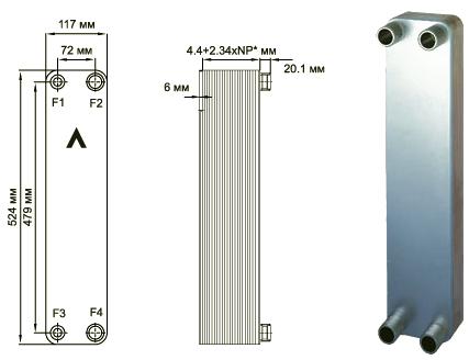 Паяный пластинчатый теплообменник SWEP B17 Химки производитель бавария призматик с плитой и теплообменником