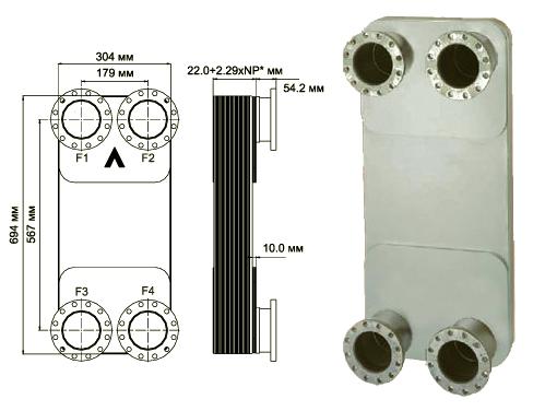 Паяный пластинчатый теплообменник SWEP B427 Химки Уплотнения теплообменника Tranter GC-051 P Анжеро-Судженск