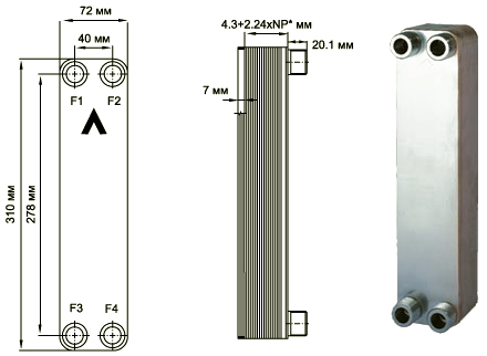 Паяный пластинчатый теплообменник SWEP E6T Хабаровск Уплотнения теплообменника Анвитэк AX 40 Сергиев Посад
